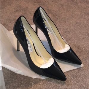 Jimmy Choo ROMY 100 black Patent Pumps BNIB